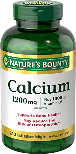 Nature's Bounty Calcium 1200 mg Plus Vitamin D3 1000 IU, 220 Softgels