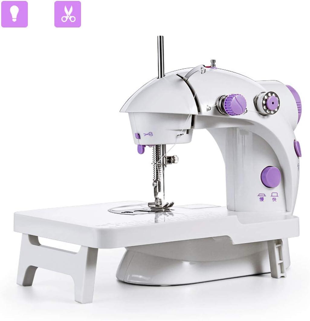 Mini máquina de coser JXJH con mesa de extensión Máquina de remodelación de artesanía ajustable portátil de 2 velocidades con pedal Versión de actualiz