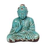 Cheap Skalny 82162BLU 10.5″ x 6.25″ x 12″ Blue Budda Ceramic Statue Figure