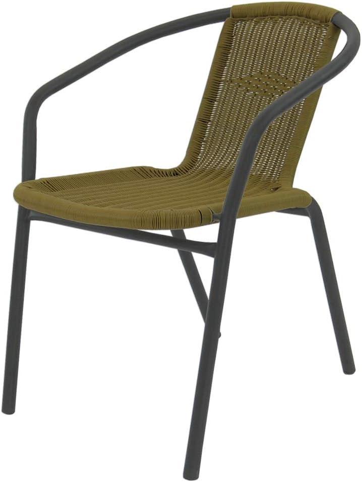 Silla apilable clásica marrón de Hierro de terraza Garden - LOLAhome