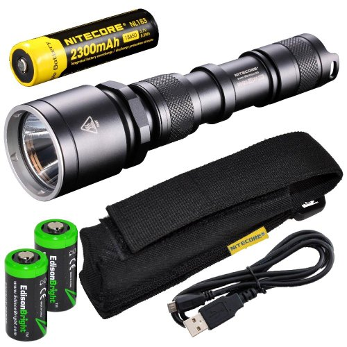 Cast Anodized Aluminum Clear (NiteCore MH25GT CREE XP-L HI V3 LED 1000 Lumens USB Rechargeable Flashlight, 18650 Rechargeable Li-Ion Battery, USB Charging Cable and Holster, Black)