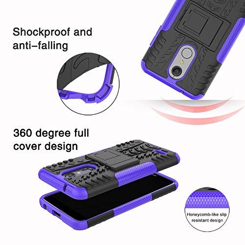 LG K30 Case, LG Phoenix Plus Case,LG Premier Pro LTE Case,LG K10 Alpha,LG  K10 2018 Case, Yiakeng Dual Layer Shockproof Wallet Slim Protective with
