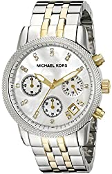 Michael Kors MK5057 Two-Tone Chronograph with Stones Watch