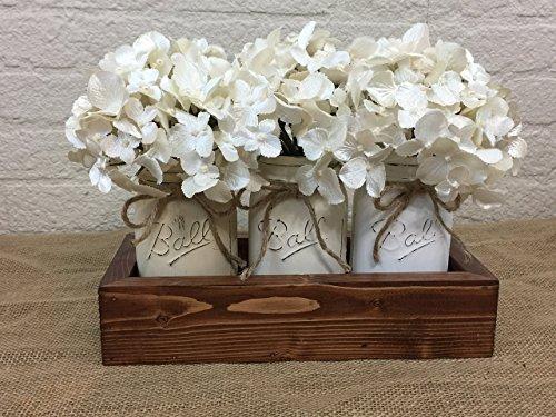 Neutral 3 Pint Mason Jar Planter Box -