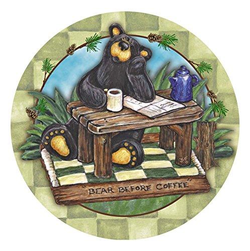 Thirstystone Stoneware Coaster Set, Big Sky Bear Before Coffee