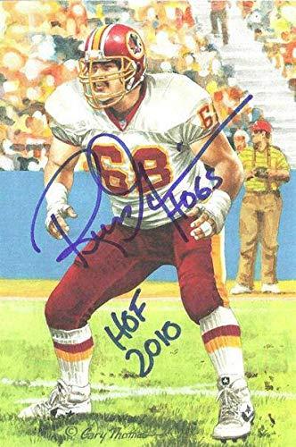 Russ Grimm Autographed/Signed Washington Redskins Goal Line Art Blue HOF 11507 - Original NFL Art and Prints