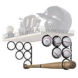 Wallniture Baseball Softball Bat Rack - Sports Accessories - Wood Shelf is not Included - Wall Mounted Shelf Brackets Only Iron Set of 2 (Black)