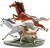 Cosmos Gifts 20849 Galloping Horses Ceramic Figurine, 11-7/8-Inch