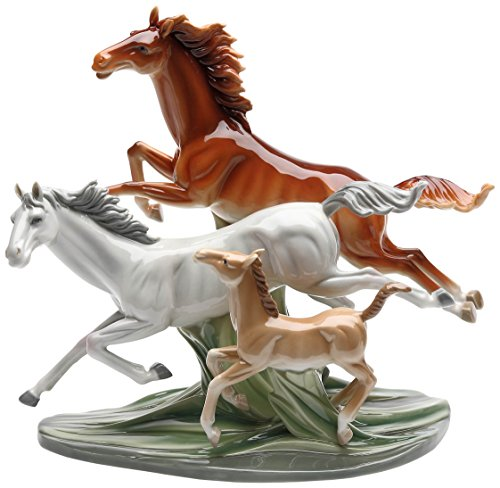 (Cosmos Gifts 20849 Galloping Horses Ceramic Figurine, 11-7/8-Inch)