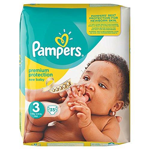 Pampers Windeln New Baby, Gr. 3 Midi 4-9 kg Sparpack, 4er Pack (4 x 35 Stück)