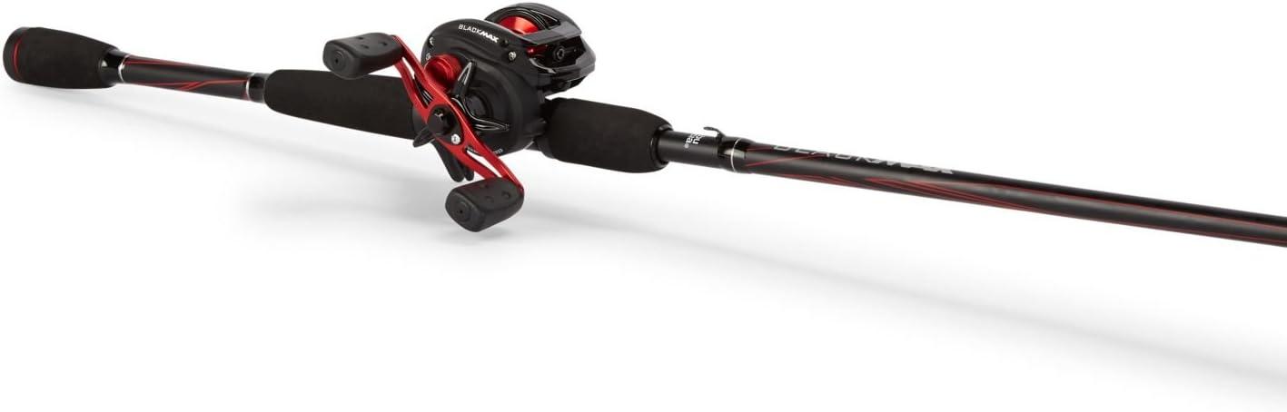 Abu Garcia Black Max Baitcast Low Profile Reel and Fishing Rod Combo