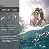 LeMotech 21 in 1 Adjustable Paracord Survival Bracelet, Tactical Emergency Gear Kit Includes SOS LED Flashlight, Bigger Compass, Thermometer, Rescue Whistle and Fire Starter - Outdoor Hiking Camping