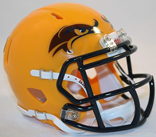 KENT STATE GOLDEN FLASHES NCAA Riddell Revolution SPEED Mini Football Helmet (MATTE YELLOW) ()
