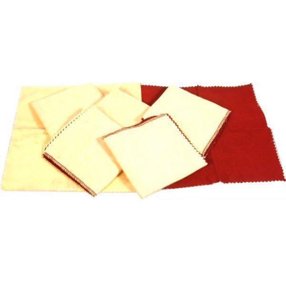 Rouge Polishing Cloth 8'' 6Pcs