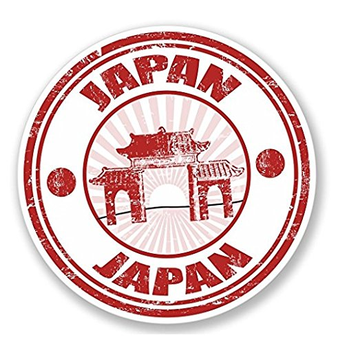 3 Pack - Japan Japanese WINDOW CLING STICKER Car Van Campervan Glass - Sticker Graphic - Construction Toolbox, Hardhat, Lunchbox, Helmet, Mechanic, Luggage (Window Japan)