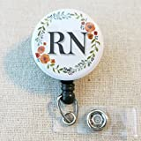 RN Nurse BADGE Reel, RN Nurse Thank You Gift, ID Badge Holder, Nursing Grad Gifts, Registered Nurse RN Graduation Gift, Nurse Appreciation Gift