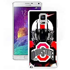 Fashion And Unique Samsung Galaxy Note 4 Cover Case Ncaa Big Ten Conference Football Ohio State Buckeyes 46 Protective Cell Phone Hardshell Cover Case For Samsung Galaxy Note 4 N910A N910T N910P N910V N910R4 White Phone Case