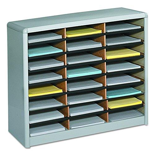 Safco Products 7111GR Value Sorter Literature Organizer, 24 Compartment, Gray ()