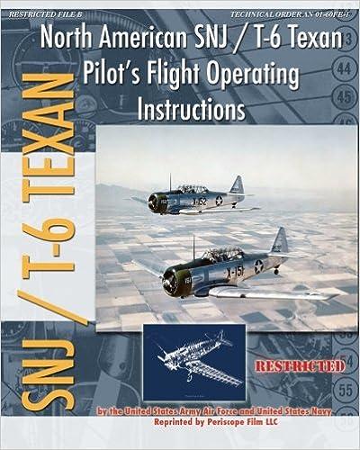 North American SNJ / T-6 Texan Pilot's Flight Operating Instructions