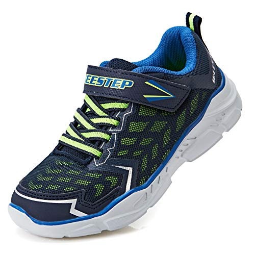 Weestep Boys Sport Sneakers Shoes Toddler Little Kids, Running Cross Trainer Walking Athletic Outdoor Casual Shoes-Navy/Green