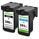 GREENBOX Remanufactured Ink Cartridge Replacement For Canon PG-240XL 240 XL CL-241XL 241 XL High Yield For Canon PIXMA MX472 MX452 MG3220 MG3520 MG2220 MX392 MX432 MX512 MG2120 (1 Black+1 Tri-Color)