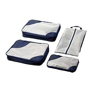 Upptäcka Packing Bag, Set of 4, Dark Blue
