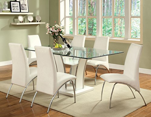 Furniture Of America Priscilla Rectangular Tempered Glass