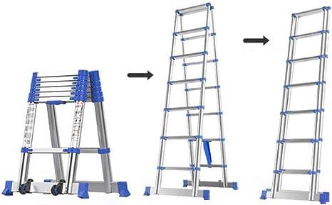 XEWNEG Escalera Telescópica De Extensión, De Aleación De Aluminio Plegable Portátil Ingeniería Escalera, Conveniente For El Hogar Al Aire Libre del Espesamiento Escaleras (Size : 1.8M(5.9FT)): Amazon.es: Hogar