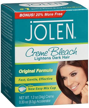 Jolen Creme Bleach Original Formula - 1.2 oz, Pack of 5