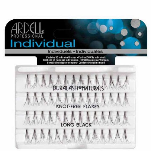 Ardell Duralash Individual Eyelashes No Knot Naturals Long Black (3 Pack) Ardell Duralash Lashes Flare