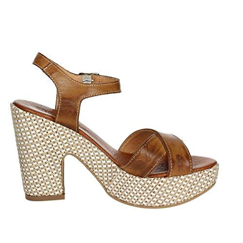F004 Sandal Leather Brown PZ6574 Women Pregunta 6CpW4YP4