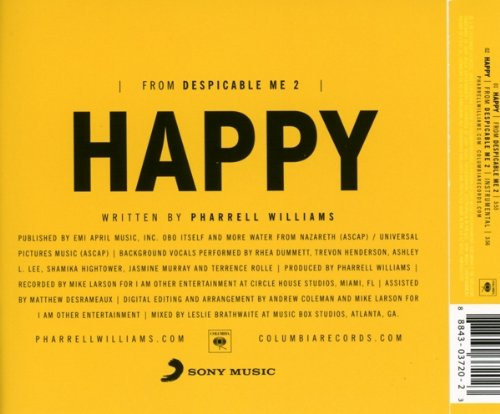 Pharrell Williams Album Cover Happy