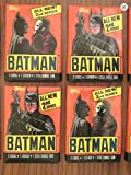 #4: Batman Trading Cards (4) Unopened Wax Pack Lot Trading Cards and Stickers 1989 Topps 2nd Series Non-sport
