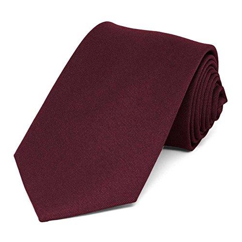 """TieMart Dark Burgundy Matte Finish Necktie, 3"""" Width from tiemart"""