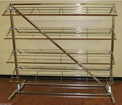 Footwear Shoe Retail Store Display Floor Rack 8 Shelf Double Sided Lot of 2 NEW by Unknown