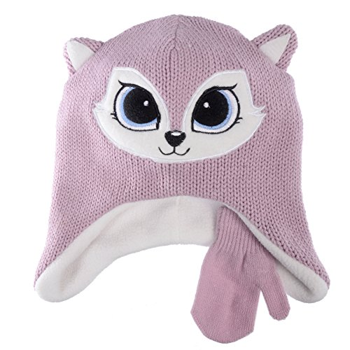 Chili Peppers Toddler Boys/Girls Animal Laplander Fleece Beanie (Fox)