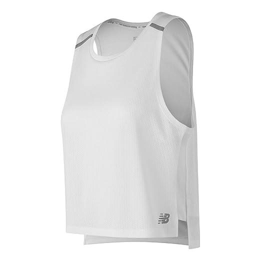 34e93f179cb2e Amazon.com: New Balance Women's Nb Ice 2E Crop Tank: Clothing