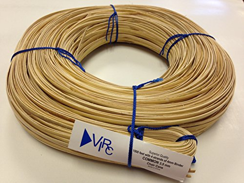 Chair Cane Common 3.5mm 1000 ft coil with 4 strands of 4mm Binder Cane
