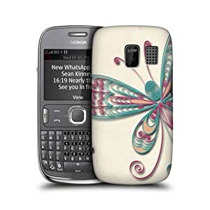 Butterfly Quilling Design Snap-on Back Case Cover For Nokia Asha 302