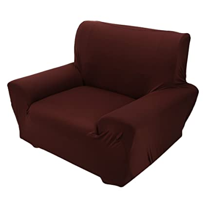 Cocoarm Soft Stretch Sofa Cover Single Seat Type Couch Slipcover Brown, 1
