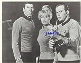 Star Trek Original Series William Shatner with Phaser Rifle Leonard Nimoy Grace Lee Whitney 8x10 Promotional Photo Lithograph STO7747