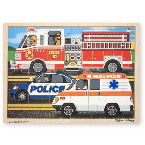 Melissa & Doug To the Rescue! Wooden Jigsaw Puzzle - Rescue