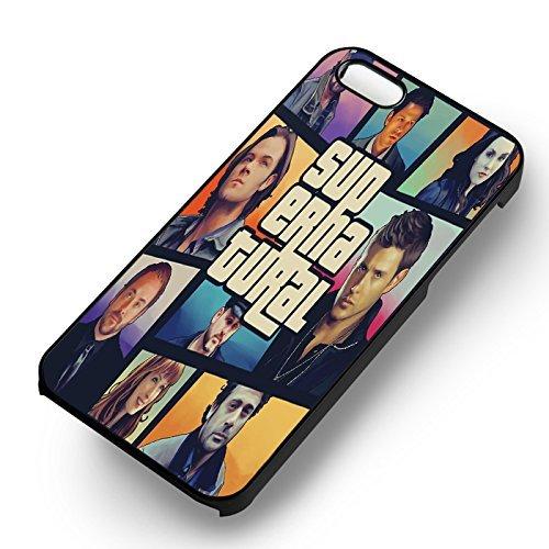 Characters Collage Art pour Coque Iphone 6 et Coque Iphone 6s Case (Noir Boîtier en plastique dur) F8H6QN