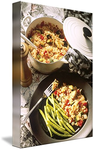 Wall Art Print entitled Chicken And Rice Casserole by Alleycatshirts @Zazzle | 16 x 24