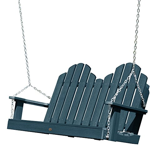 Swing Nantucket Classic - highwood AD-SW1CW52-NBE Classic Westport Porch Swing, 4 Feet, Nantucket Blue