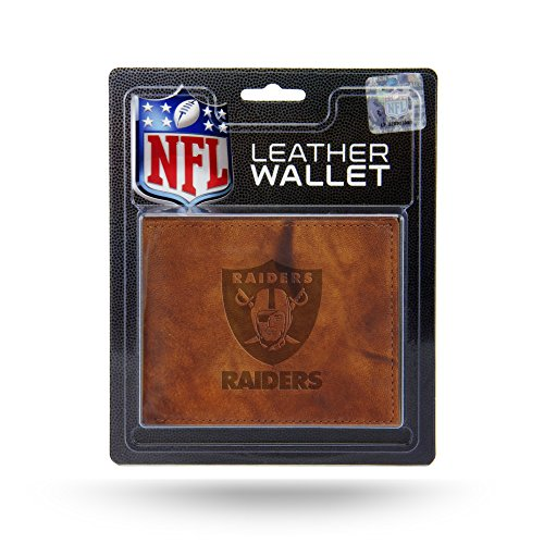 Rico Industries NFL Oakland Raiders Embossed Leather Billfold Wallet with Man Made Interior