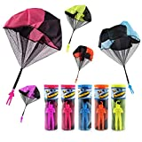 TSLIKANDO 5PCS Parachute Toy Tangle Free Throwing Parachute Toss It Up Watch Landing Outdoor Children's Flying Toys