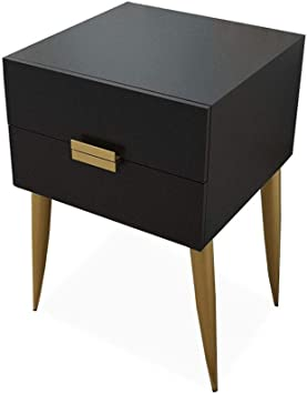 End Side Table Nightstand Storage w// Drawer and Beam Home Decor Bedside Gray