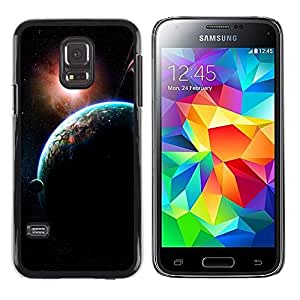 Fuerzas de expansión - Metal de aluminio y de plástico duro Caja del teléfono - Negro - Samsung Galaxy S5 Mini (Not S5), SM-G800