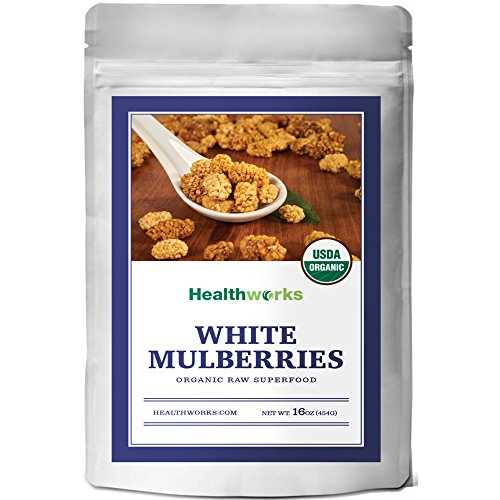 Healthworks White Mulberries Sun-Dried Organic, 1lb